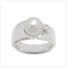 Devi a Japanese Akoya Cultured Pearl Ring