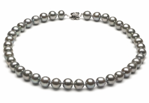 10 to 11.5mm Silver Choker