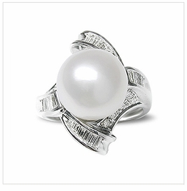Veronica a White Australian South Sea Cultured Pearl Ring