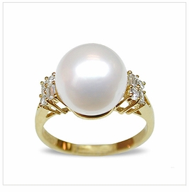 Cyrus a White Australian South Sea Pearl Ring