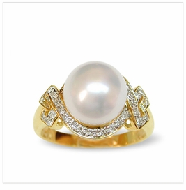 Odella a White Australian South Sea Pearl Ring