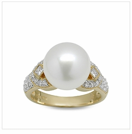 Toci a White South Sea Cultured Pearl Ring