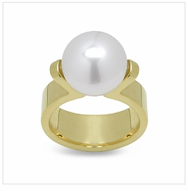 Davis a Japanese Akoya Cultured Pearl Ring