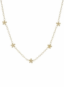 18K Diamond Flower Garland Necklace (.36 ct. tw.)
