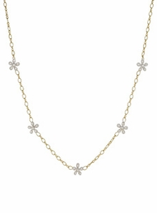 18K Diamond Flower Garland Necklace (1.40 ct. tw.)