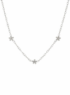 18K Diamond Flower Garland Necklace (.36 cts. tw.)