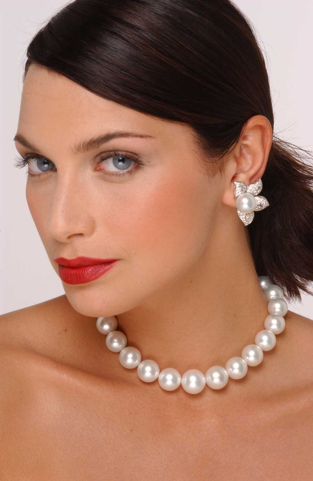 16mm To Inches >> 14 x 16mm White South Sea Pearl Necklace
