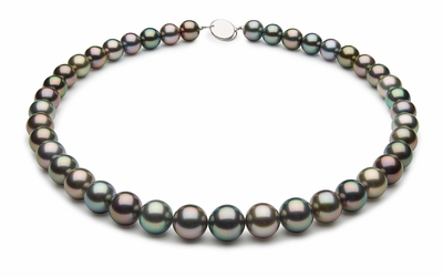 10 x 11.5mm Black Tahitian Pearl Necklace