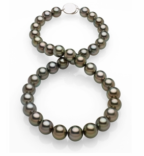 10x11.8mm Black Tahitian Pearl Necklace