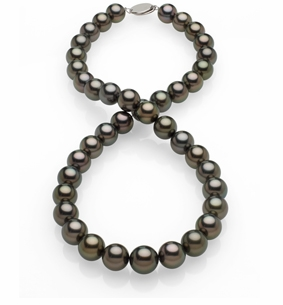 10x11.4mm Black Tahitian Pearl Necklace