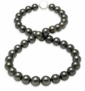 10x11.5mm Black Tahitian Pearl Necklace
