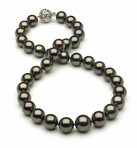 12.1mm x 14.4mm Tahitian Pearl Necklace