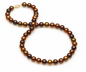 8mm Multicolor Mocha Pearls
