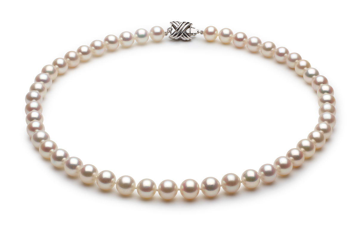7 5 X 8mm White High Grade Freshwater Pearl Necklace