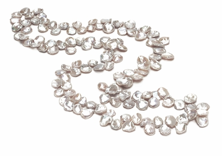 AAA  11 x 15mm Keshi Shape Pearl Necklace