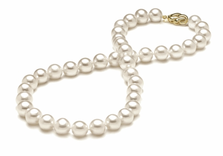8.5 x 9.5 Round Pearl Necklace