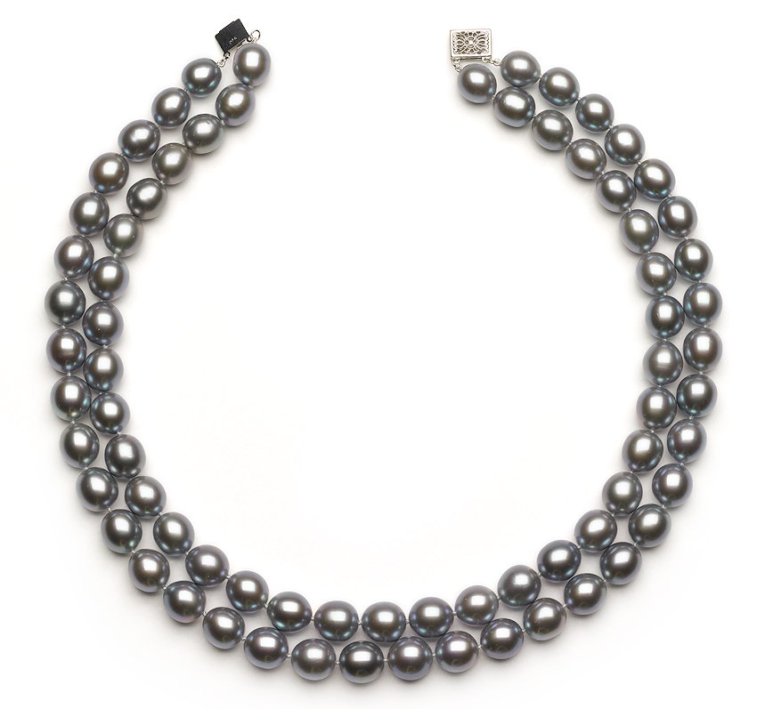 10 To 11 5 Double Strand Silver Choker