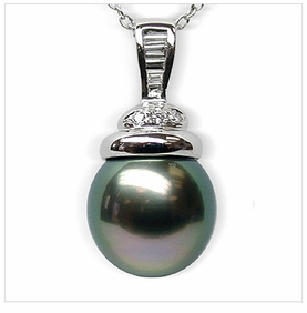Sala Black Tahitian South Sea Pearl Pendant