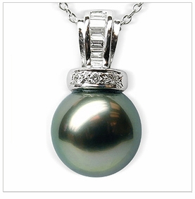 Salacia Black Tahitian South Sea Pearl Pendant