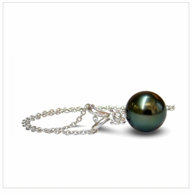 9mm Tahitian Cultured Pearl Pendant