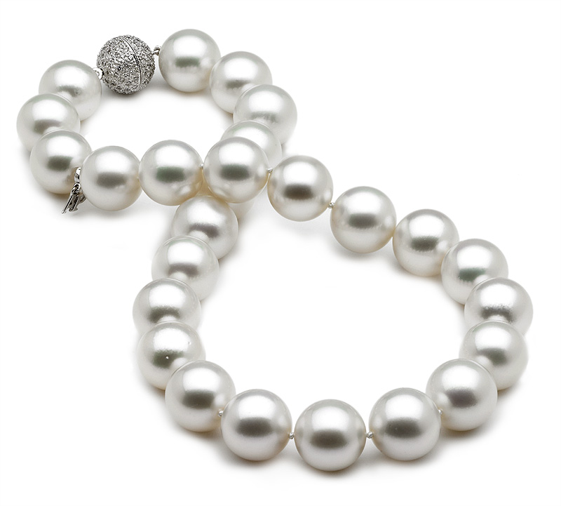 14 X 16mm White South Sea Pearl Necklace