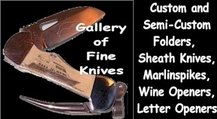 Knife Gallery:<br>Scrimshaw,<br>Custom,<br>Semi-custom