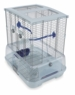"Vision Small Bird Cage #S01, 19""x15""x20"", Small Wire, Single Height, Blue Perches & Food/Water Dishes"