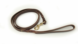 "Braided Leather Dog Leash 3/4"" x 72"" Burgundy by Auburn Leathercrafters"