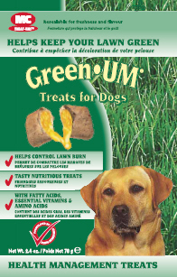 Green Um Treats for Dogs 2.4oz Bag