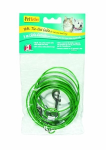 Hagen Pet Tether 10 inch Cat Cable Green