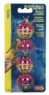 (B1708) Living World 4 Plastic Balls w/ Bells