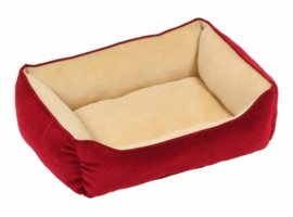 Dogit Rectangular Reversible Cuddle Bed - Royal Plush Burgundy, Small