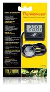 Exo-Terra Digital Thermometer with Probe, C&F