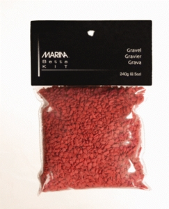 Marina Betta Kit Decorative Gravel, Red
