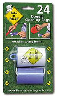 Bags on Board Dispenser with 30 Clean-up Bags