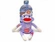 Aspen Critter Sock Monkey Dog Toy, Small Assorted
