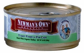 Newman's Own Organics Cat Turkey / Vegetable 24 / 3 oz Can