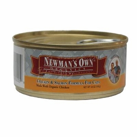 Newman's Own Organics Chicken / Salmon Cat 24 / 5.5 oz Can