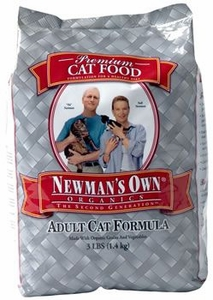Newman's Own Organics Cat Chicken / Rice Adult 3 Lb Bag