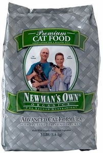 Newman's Own Organics Cat Chicken / Rice Advanced 3 Lb Bag