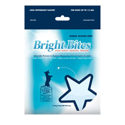 Bright Bites Daily Dental Cool Peppermint Flavor Small Dog Treats 6-oz.