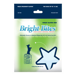 Bright Bites Daily Dental Fresh Spearmint Flavor Small Dog Treats 5-lb.
