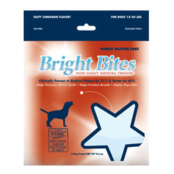 Bright Bites Daily Dental Tasty Cinnamon Flavor Medium Dog Treats 2.4-lb.
