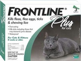 Frontline Plus for Cats 3 or 6 Month Supply GREEN
