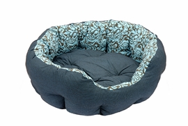 Lila Pattern Round Bed Bed Extra Large