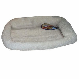 PoochPlus� Corner Bolster Bed - White 37 X 25 Inch
