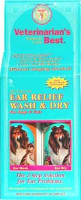 Veterinarian's Best Ear Relief Wash & Dry for Dogs and Cats 2x4oz Bottles