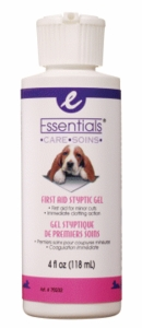 Essentials Styptic Gel for dogs, 4 oz.