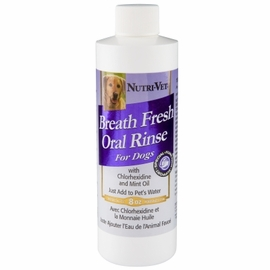 Nutri-Vet Breath Fresh Dental Rinse for Dogs 8.0 oz Cans