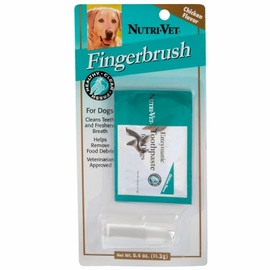 Nutri-Vet Finger Brush Kit for Dogs Bag